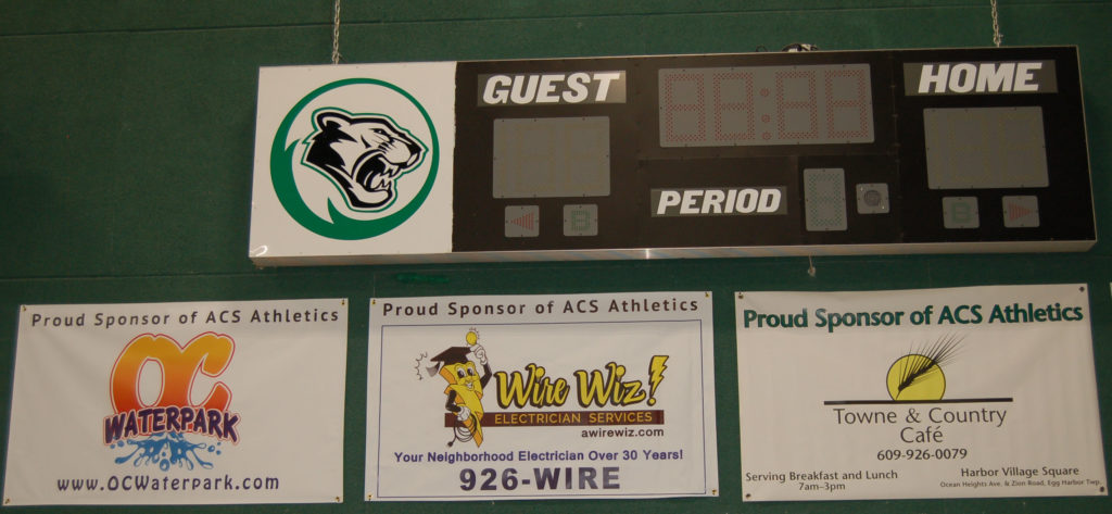 Sponsor A Banner Sign To Hang In The School Gym Or On Baseball Field Fence And Your Sponsorship Will Help Support Our Acs Athletic Department