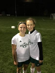 10A Two players, left, Cristen Winkel, Chloe Vogel, 2 of 3 starting freshman