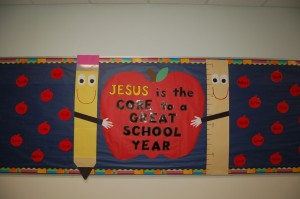 13 DSC 0755 - Jesus is the Core Bulletin Board