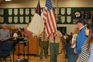 DSC 0009A - Scouts presenting colors down aisle