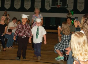 DSC 0055A - procession 2 boys and Mrs Garner