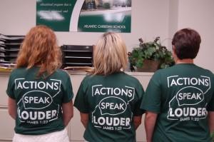 DSC 0151 - Actions Speak Louder T-shirts