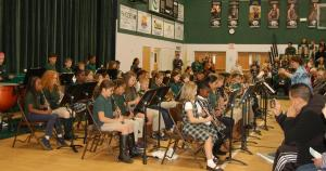 DSC 0157A - Elementary band playing