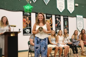 IMG 5004 - Girls soccer coach gives award to Shannon Murphy