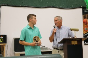 IMG 5026 - Baseball coach Ray Picking presents to Carl Phillips