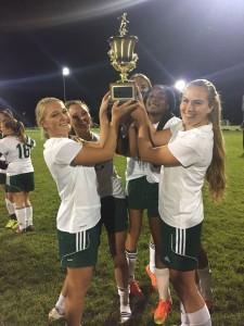 Varsity Soccer Girls team at Championships, 11-5-16