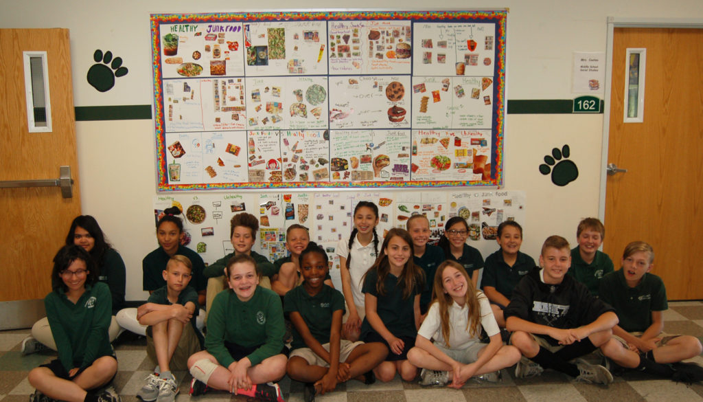 5th Grade Posters Promote Eating Healthy Snacks — Atlantic Christian
